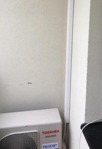 Lišta klimatizace - umístění na balkónu