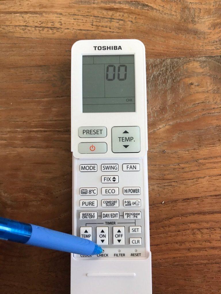Diagnostika chyby klimatizace TOSHIBA