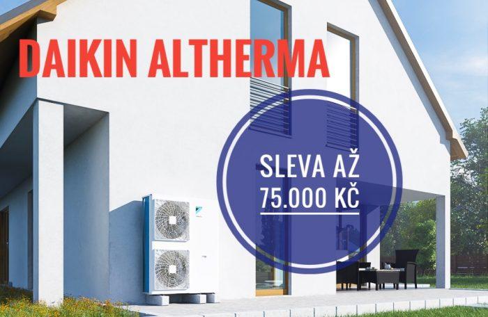tepelné čerpadlo DAIKIN ALTHERMA - SLEVY